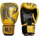 Kožené boxerské rukavice Firepower Thai žluté