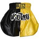 Šortky Muay Thai - Yellow / Black - dětské