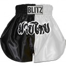Šortky Muay Thai - White / Black