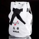 Bílý batoh přes rameno (pytel) - Ninja